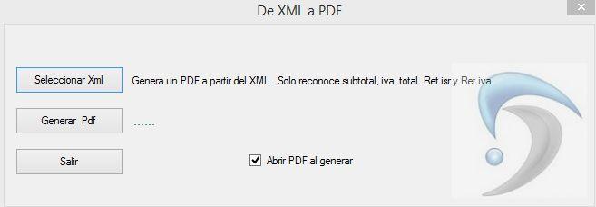 de xml a pdf cfdi tools