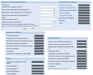 Calculadora de actualizacion y recargos