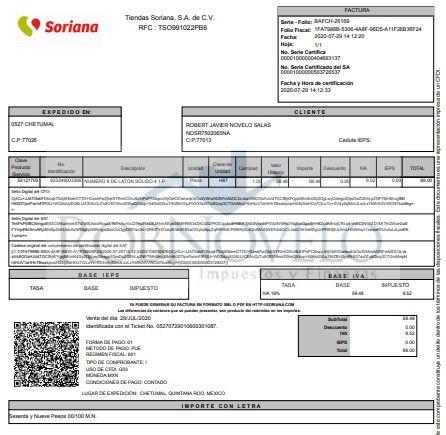 facturacion electronica soriana