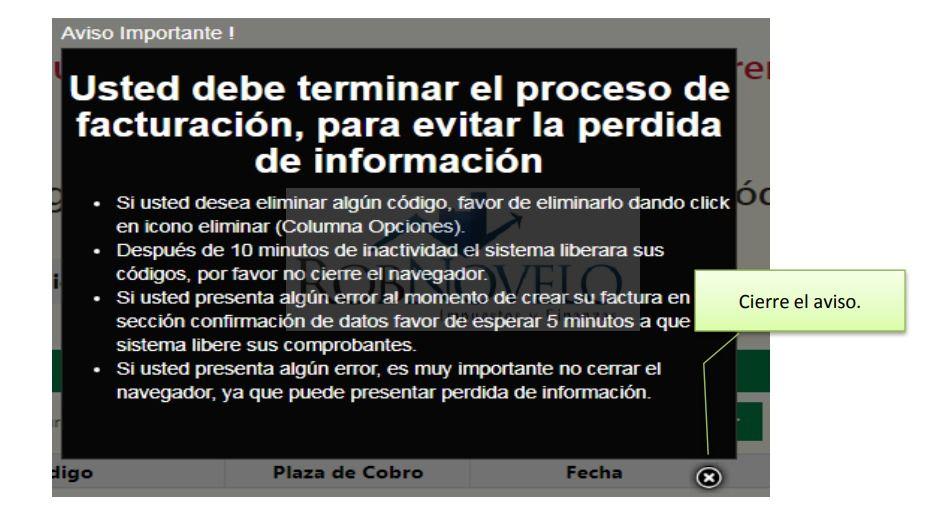 facturacion ticket capufe