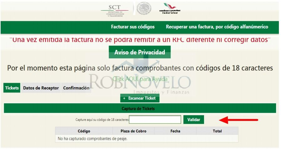 facturacion electronica capufe