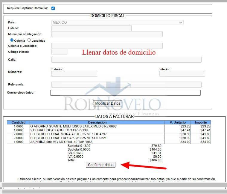 factura electronica farmacias del ahorro