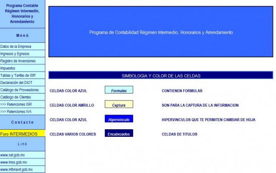 calculo de regimen intermedio honorarios y arrendamiento 2013 en excel