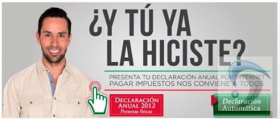 pago de la Declaracion anual 2012